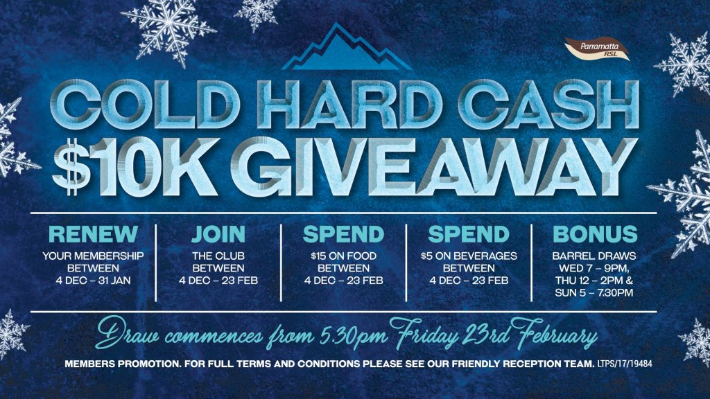 Cold Hard Cash $10K Giveaway!