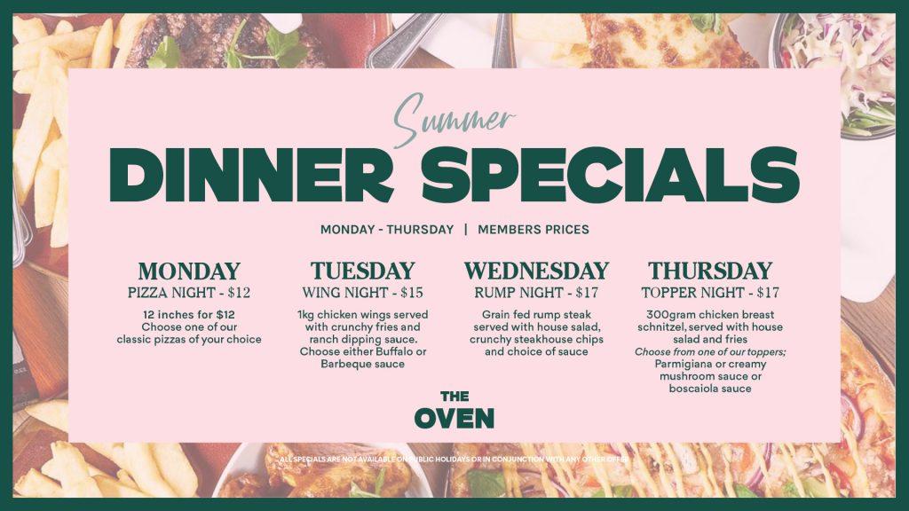 Summer Dinner Specials