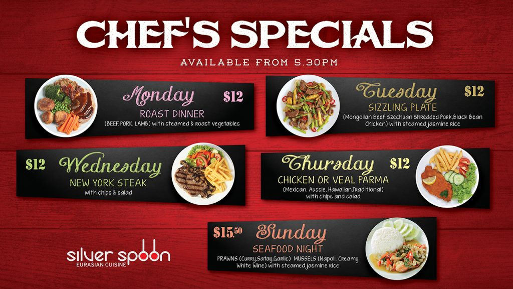 Chef's Specials @ Silver Spoon