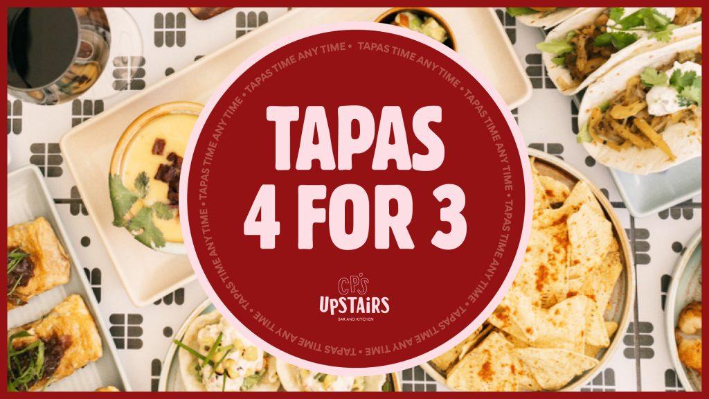 Tapas 4 for 3