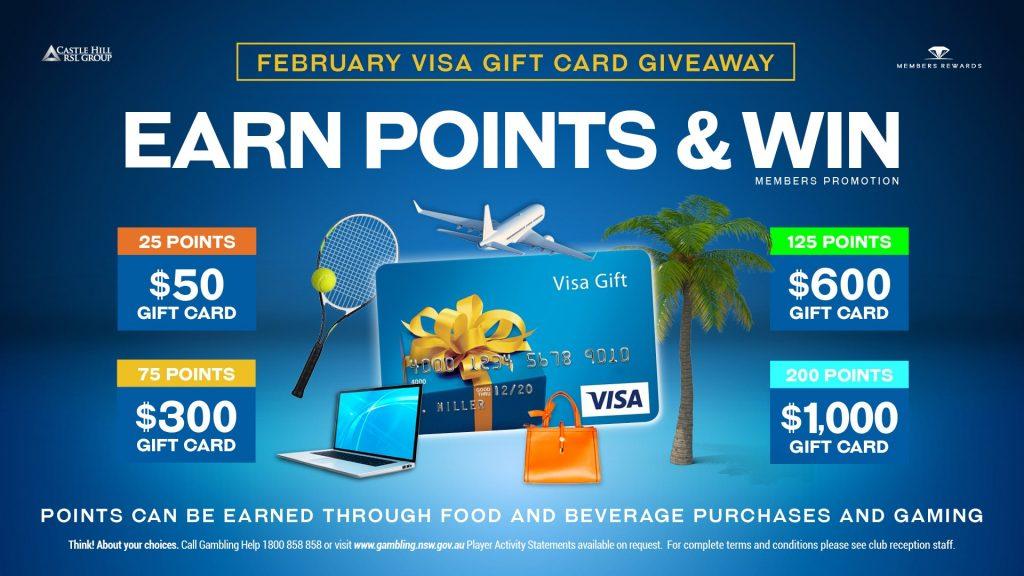 February Visa Gift Card Giveaway